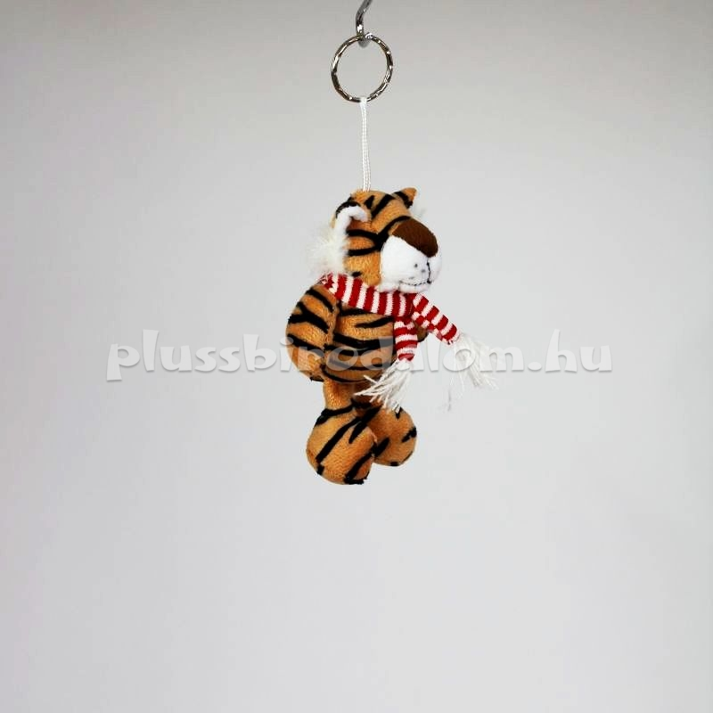 Plüss Tigris kulcstartó